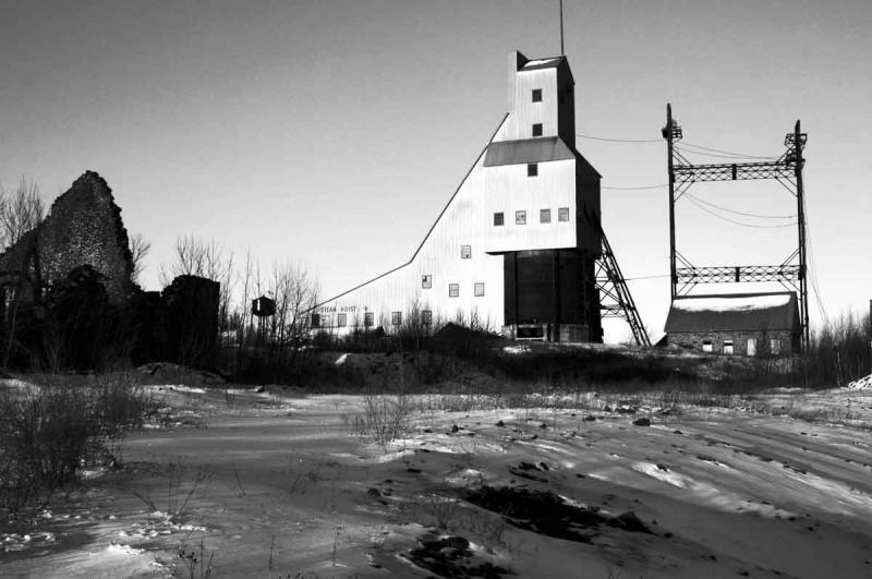 The historic Quincy mine hoist is part of the Keweenaw National Historic Park system in the U.P.