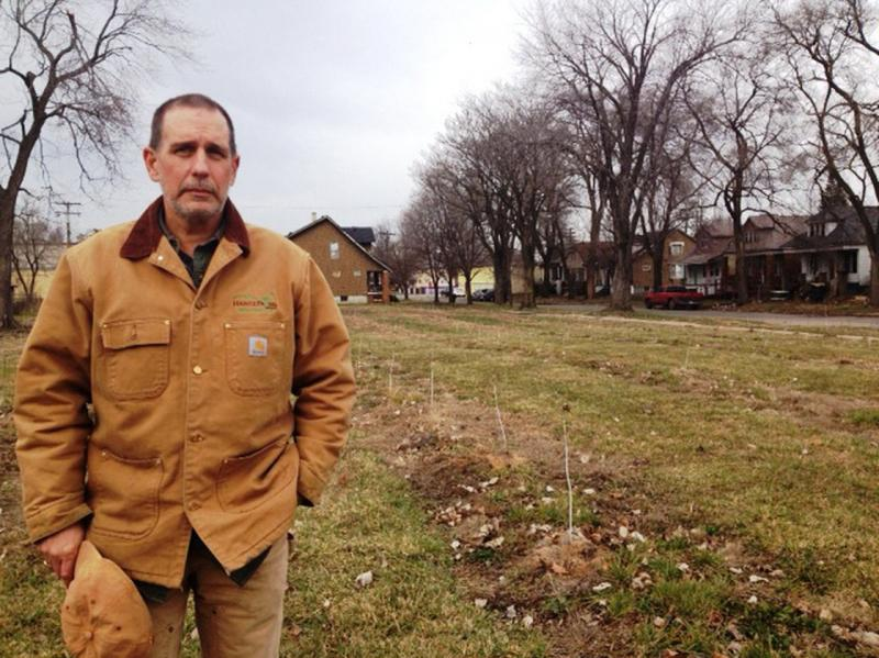 Mike Score is the president of Hantz Farms, which plans to plant 15,000 hardwoods on the east side of Detroit.