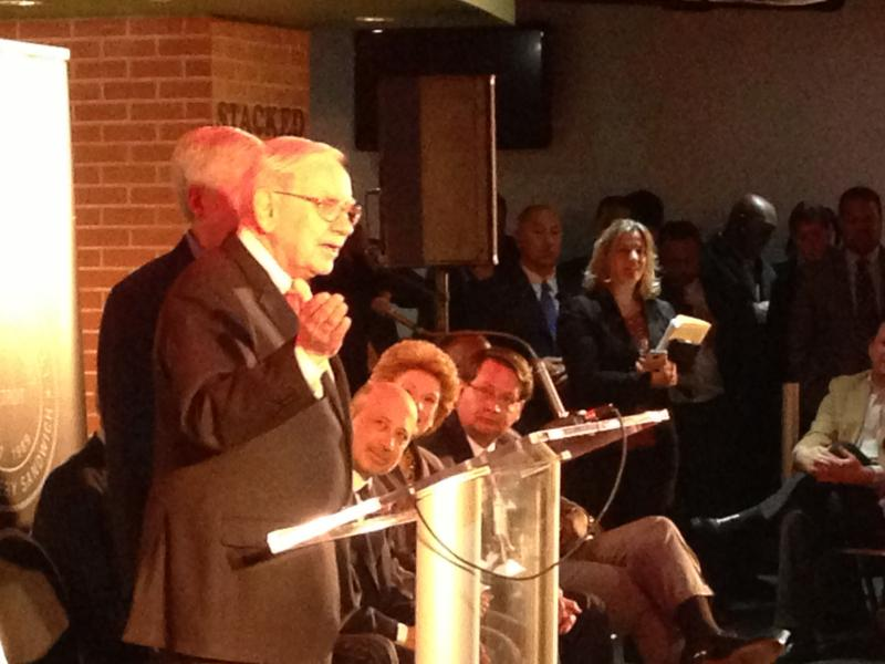 "Warren Buffett says Detroit has a ""huge potential"" for economic growth."