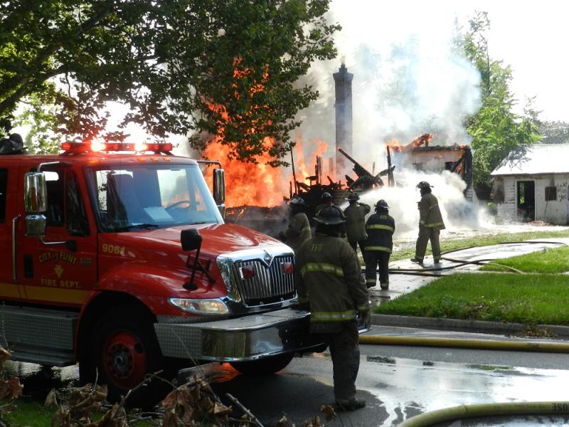 Flint firefighters battle yet another suspicious fire  (file photo)