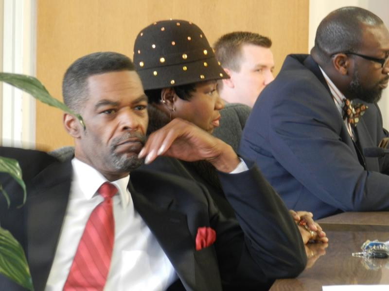 Flint 1st ward city councilman Eric Mays listens during a recent council meeting