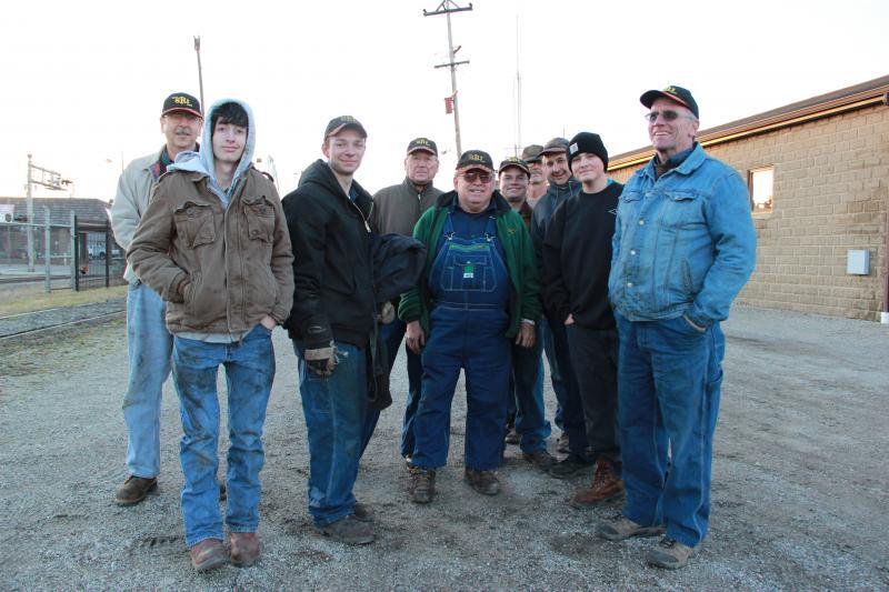Volunteers helped overhaul the engine over four years