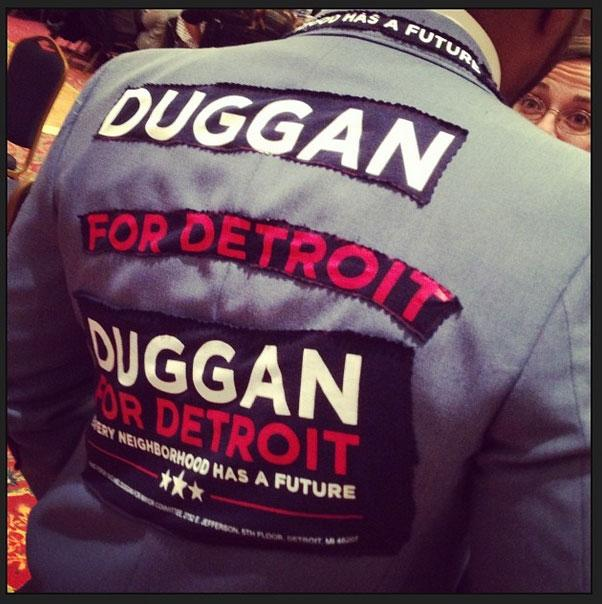 At the campaign party for Mike Duggan.