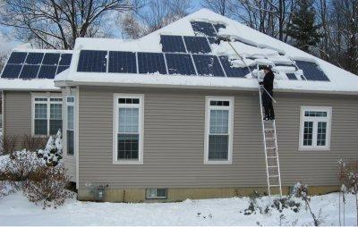 Do snow and solar power mix?