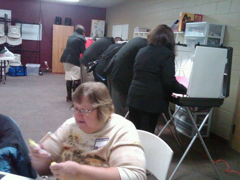 Voters casting ballots (file photo)