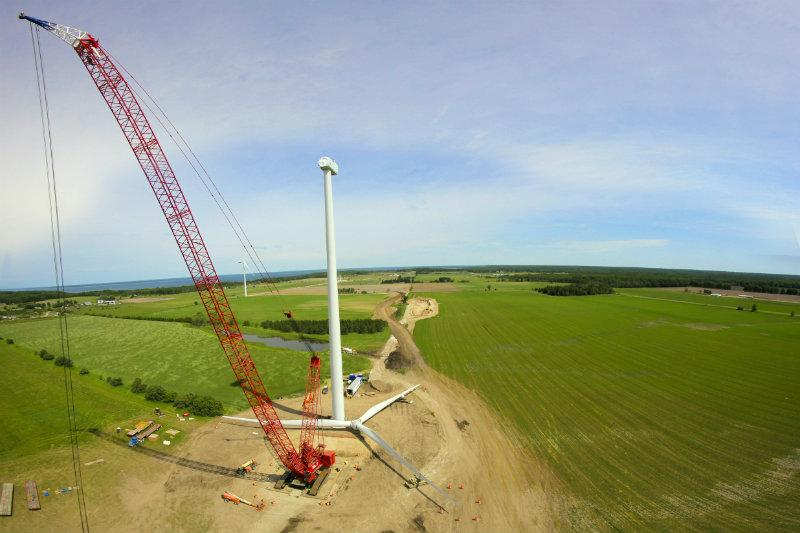 Heritage Sustainable Energy's Garden Wind Farm in the Upper Peninsula was completed in September 2012.
