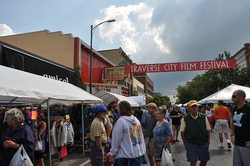 The Traverse City film festival is one of the city's best known festivals.