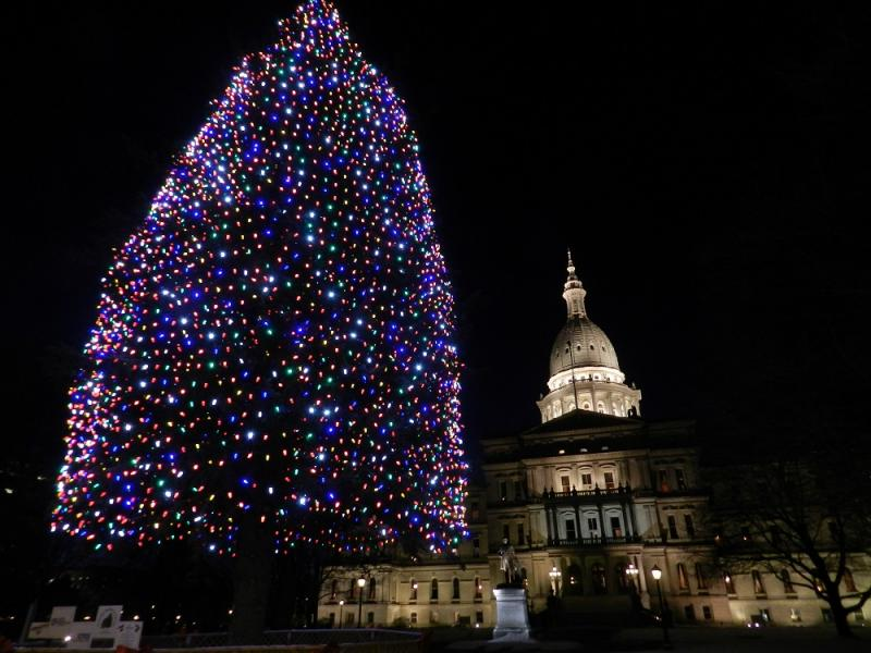 Michigan's capitol building in December 2013.