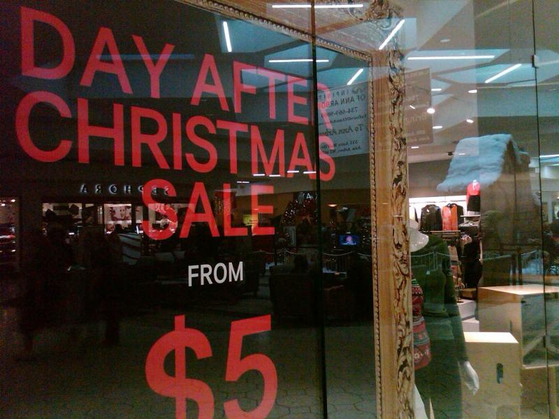 Day after Christmas sales