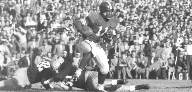 Jim Ellis and the Spartans beat Notre Dame, 35-0, on Nov. 10, 1951 in Spartan Stadium. They went on to an undefeated season and a national championship.