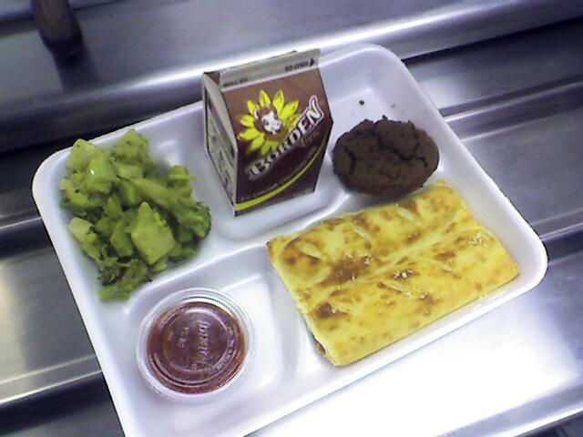 A school lunch.