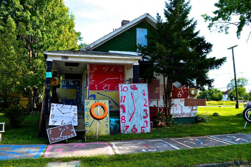 The Clock House is no more. It was burned along with several other structures in the world-renowned Heidelberg Project.