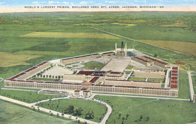 Jackson State Prison from a 1949 postcard.