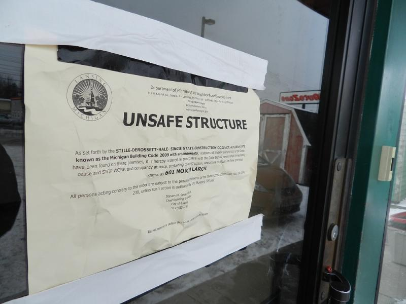 The Lansing City Outreach building was shut down earlier this week for numerous code violations.