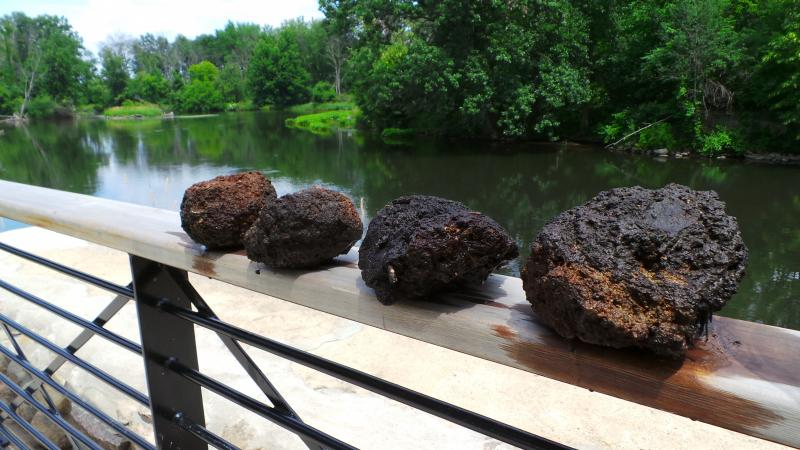 Craig Ritter's mysterious rock formations he started finding this summer on the banks of the Kalamazoo River.