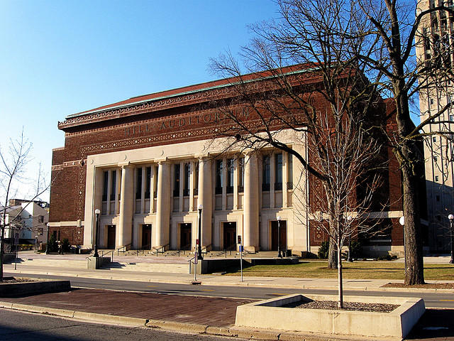Hill Auditorium is where the Ann Arbor Folk Festival is happening this weekend
