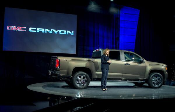 GM CEO Mary Barra introduces GMC Canyon