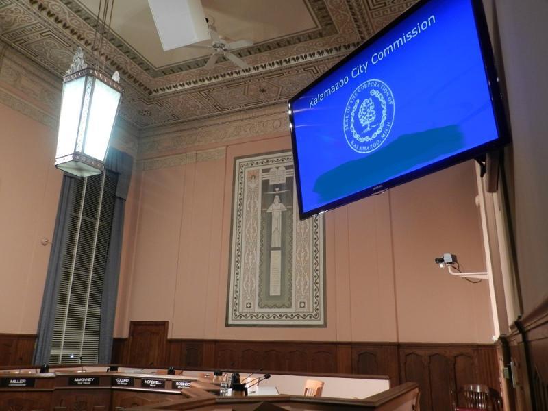 Kalamazoo City Commission chambers (file photo)
