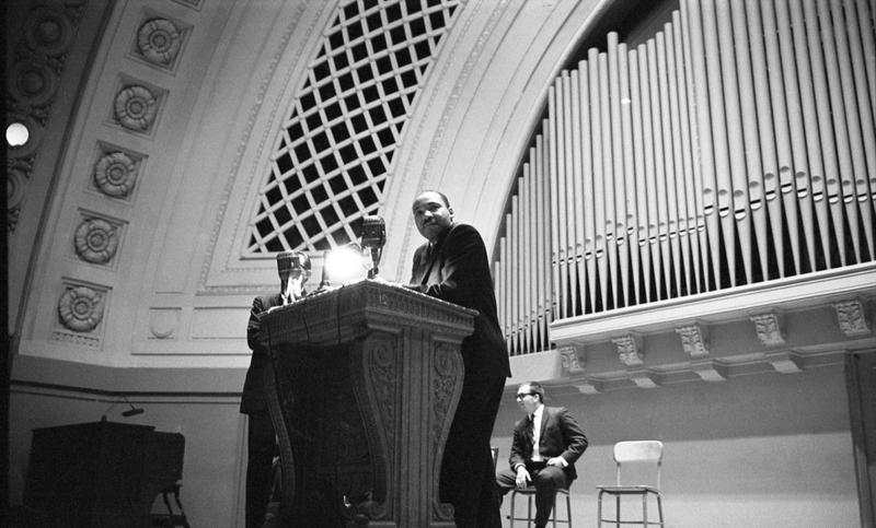 MLK, Jr. at Hill Auditorium in Ann Arbor.