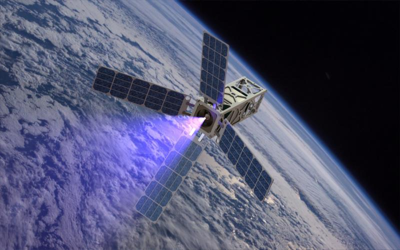 A rendering of the Cubesat Ambipolar Thruster being developed by U of M researchers