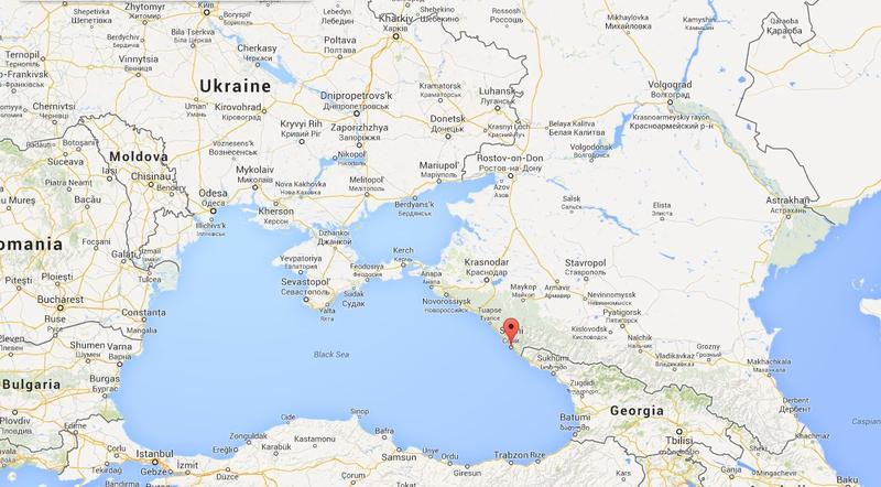 Location of Sochi, Russia, where Michigan snowmakers are helping out.