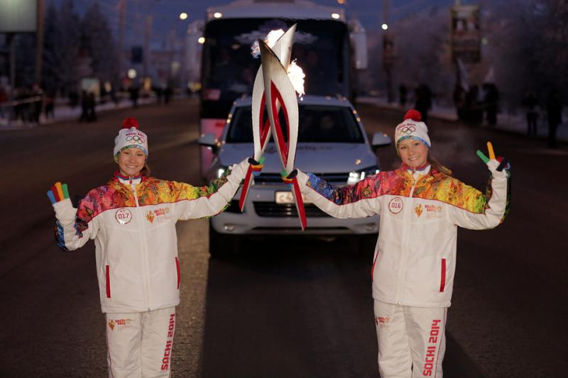The Olympic torch relay has been making its way to Sochi