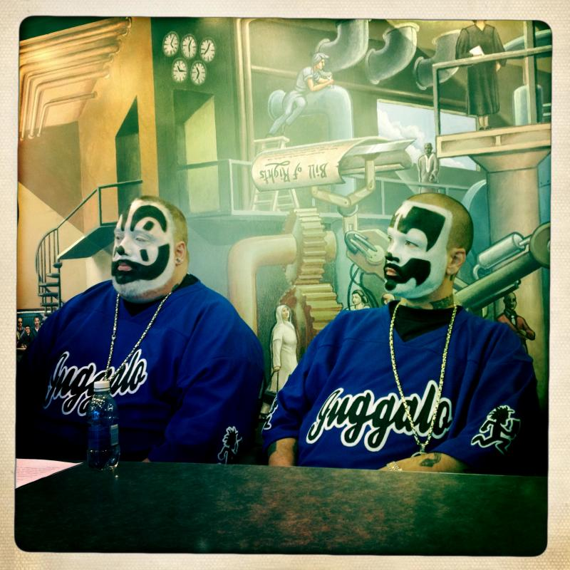 Violent J (Joseph Bruce) and Shaggy 2 Dope (Joseph Utsler) are the duo behind Insane Clown Posse