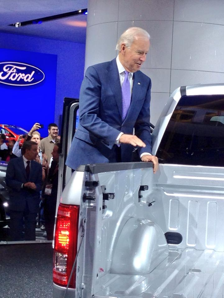 Vice President Joe Biden at the 2014 NAIAS.