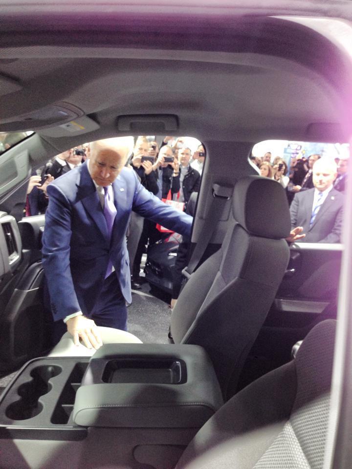 Vice President Biden at the 2014 NAIAS.