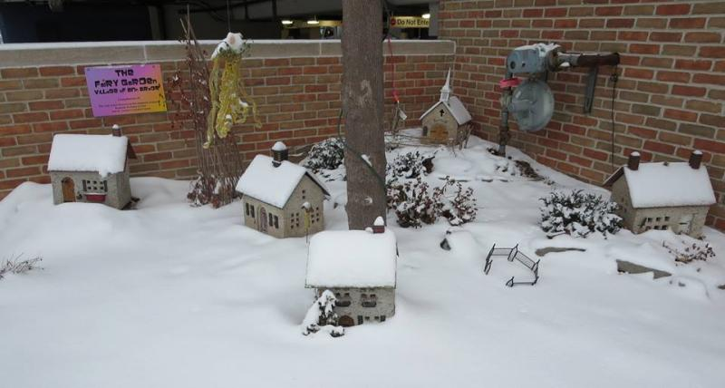 Fairy Garden Village of Ann Arbor evacuated due to heavy snow.