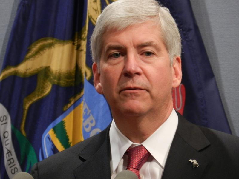 Gov. Rick Snyder (R-MI) (file photo) will formally kickoff his campaign with a Super Bowl ad and two days of campaigning across the state next week.