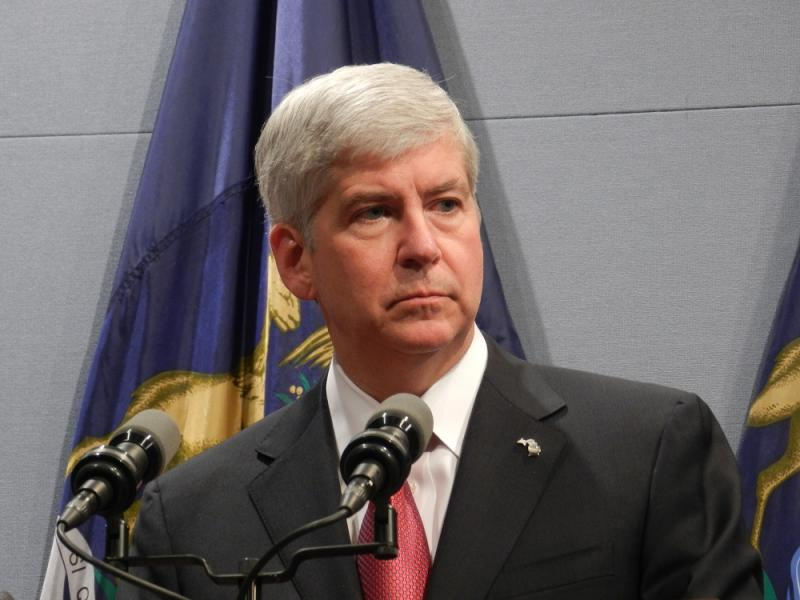 Michigan Governor Rick Snyder (R-MI)  (file photo)