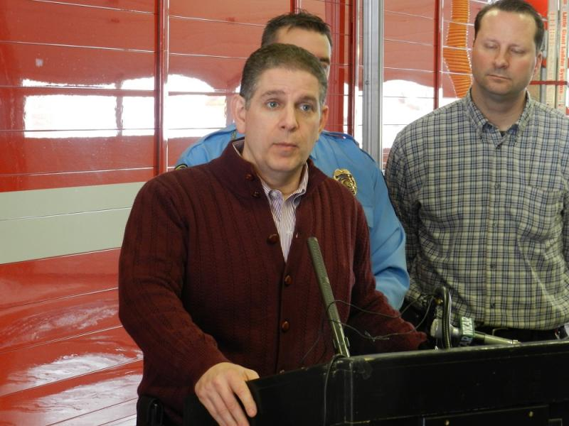 """It's just too dangerous for city residents to be outdoors,"" Lansing Mayor Virg Bernero told reporters at a news conference today."