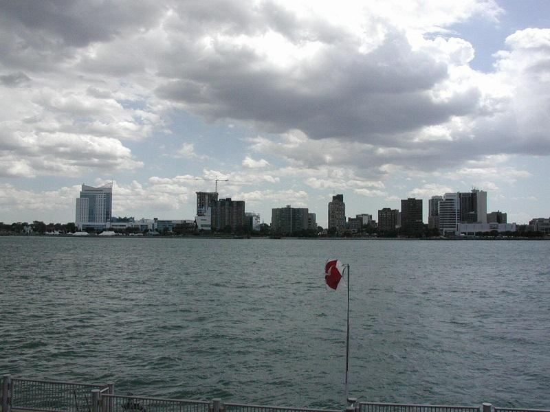 The view of Windsor from Detroit (file photo)