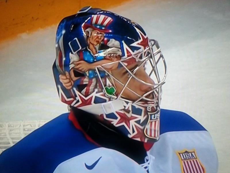 Ryan Miller's mask was painted by a Michigan artist.