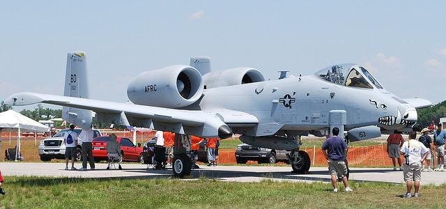 An A-10 Warthog.