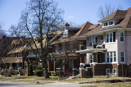 A neighborhood in Detroit.