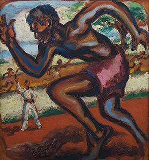 A painting currently on exhibit at Charles H. Wright.