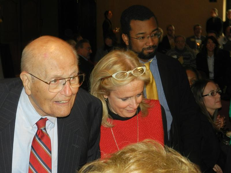 John and Debbie Dingell at today's luncheon.
