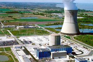 Davis-Besse Nuclear Power Station, Ohio's first nuclear power plant, is located 35 miles east of Toledo.   The plant produces 40% of the electricity used by residences, businesses and industries in northwestern Ohio.