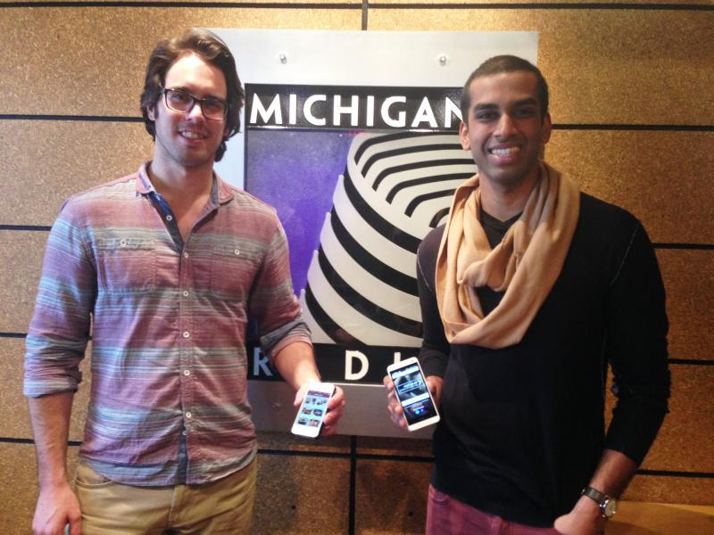 Web designer, Adam Salois (left), and Managing Director, Jonathan Kumar (right).