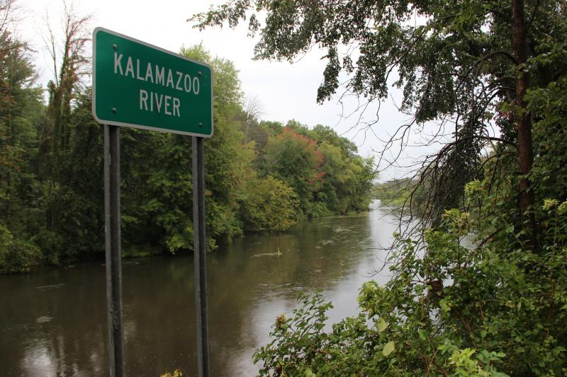 The Kalamazoo River near Ceresco, Michigan.
