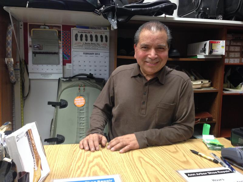 Jesus Valdez is the owner of Ann Arbor Shoe Repair.