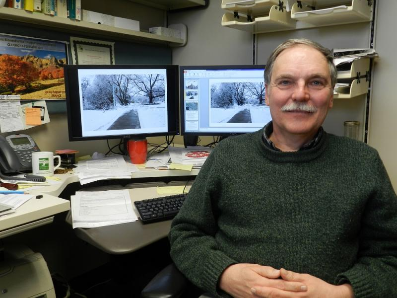 Professor Frank Telewski says about 5% of the trees on MSU's north campus were damaged by the unusually heavy ice that coated tree branches during the Dec. 22 storm.