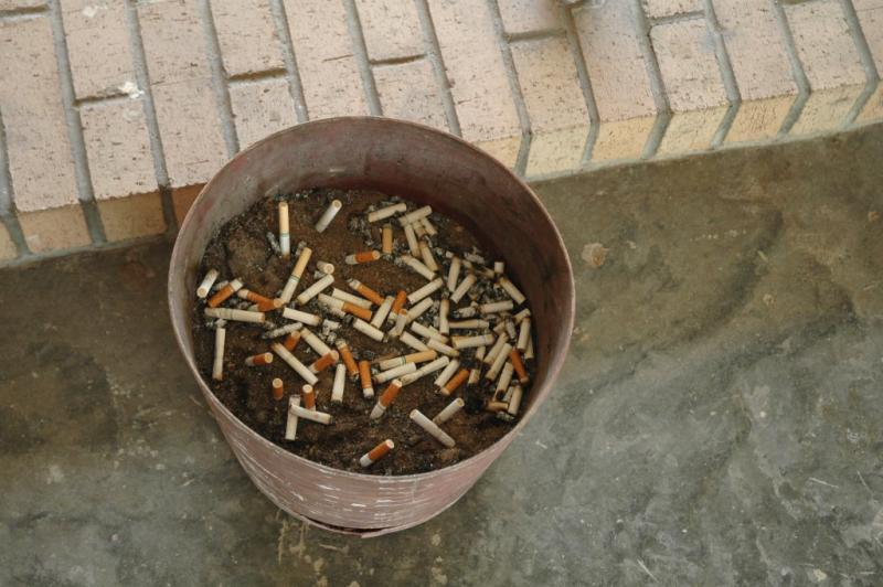 A proposed ordinance would prohibit smoking at bus stops and city parks
