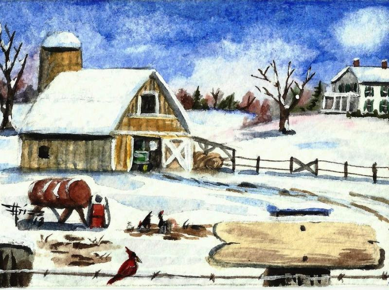 What is farm life like during the winter?