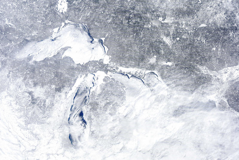 The Great Lakes on Feb. 16, 2014.