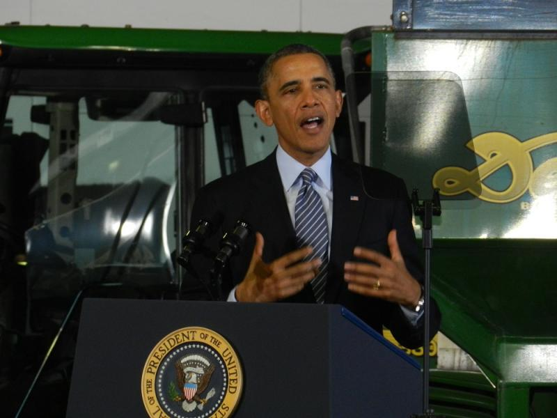 """In these rural communities, a lot of young people talk about how jobs are so scarce, even before the recession hit, that they feel like that have to leave in order to have opportunity,"" Obama told the audience."