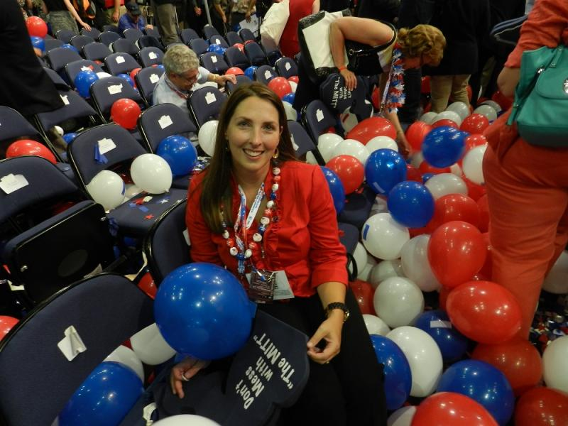 Ronna Romney McDaniel (seen here at the 2012 Republican National Convention in Tampa, Florida)  was elected Saturday morning during a meeting of the 113-member Michigan Republican Party State Central Committee.