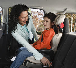 Once children are able to sit forward-facing in their car seat, that is what they should use until they reach the height and weight limits of their seat. Then they should use booster seats until they are about 4 feet 9 inches tall.
